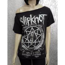 Camiseta Feminina Slipknot - All Hope Is Gone - Gola Canoa