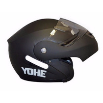 Capacete Yohe Escamoteável Articulado Preto Fosco N 62