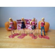 Cuatro Figuras Barbie Fashion De Huevo Kinder Sorpresa Ca2