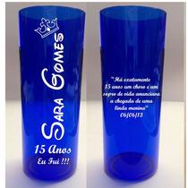 Copo Em Acrílico Personalizado Em Vinil 350 Ml - 50 Unidades