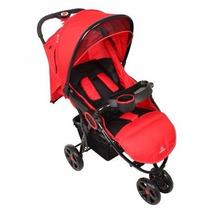 Carrinho De Bebê 3 Rodas Dardara Street Vermelho