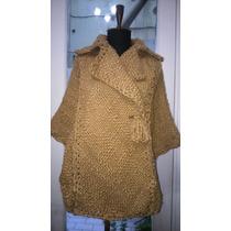 Capa Con Abertura Para Manos Tejida Telar Crochet Lanamerino
