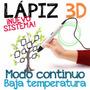 Nuevo! Lápiz 3d - Unico Con Modo Continuo Y Baja Temperatura