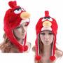 Touca Angry Birds Vermelho Red De Pelúcia Adulto Ou Infantil