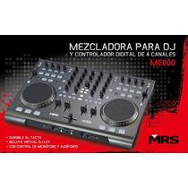 Mrs Me-800 Mixer Pro Y Controlador Usb Avanzado Virtual Dj