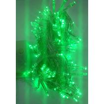 4 Pisca Verde 100 Lâmpadas De Led 10 Metros 8 Fuções 127v