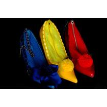 Bolsa Sapato Salto Luxo Pompom Cores Edição Limitada
