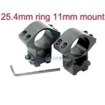 Mount P/ Trilho 11mm Red Dot Luneta Laser Lanterna Carabina