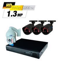 Kit Cctv Videovigilancia Alta Definición 3 Cám. 1 Ptz