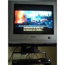 Televisor Samsung 21 Convencional Con Base Aérea Y Dvd