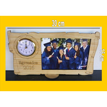 28 Souvenir Reloj De 11 Cm Portaretrato Egresados 2016