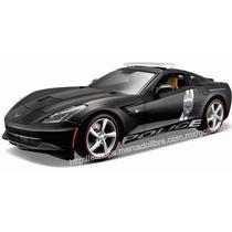 Maisto 1/18 Corvette Stingray Patrulla Negro Mate Diecast