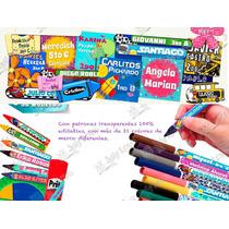 Etiquetas Escolares Personalizadas 100% Editables