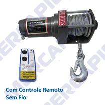 Guincho Eletrico 3000lbs, Com Controle Remoto Sem Fio.