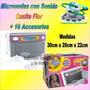 Microondas Juguete + Sonido + Gira De Verdad +16 Accesorios