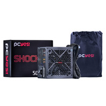 Kit Fonte Pcyes 500w Real Shocker 80 Plus + Gabinete Tiger