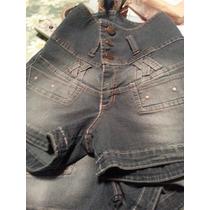 Shorts Y Bermudas De Jean Tiro Alto Elastiz T 36 Al 44 $ 500