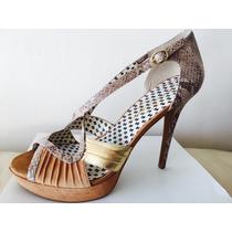 Jessica Simpson Plataforma Taco Zapato Fiesta Num 41 Usa !!!