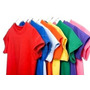 Camisa Unicolores Cuello Redondo 100%algodon Para Serigrafia