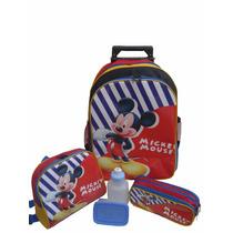 Kit Mochila Mickey Mouse Color Rodinhas + Lancheira Térmica