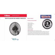 Ventilador De Pared 20 -liliana-90watts-garantia 2 Años