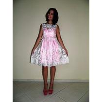 Vestido De Festa Rosa /debutante/casamento/ P/ Entrega