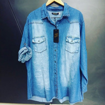 Camisas Jean Damas Mangas Largas T Xl Al 3xl $560