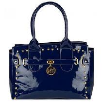 Bolsa, Bolso Fino Dama Color Azul Marino Diseño Elegante