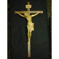 Cristo 90x46cm Madera -crucifijo Talla Fina Imágen Religiosa