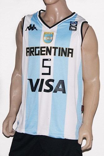 Camiseta De La Seleccion Argentina De Basket Titular Kappa -   1.099 ... b5b3eb2005835