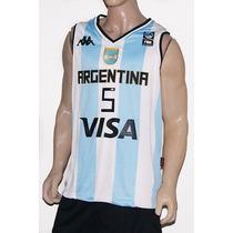 Camiseta De La Seleccion Argentina De Basket Titular Kappa
