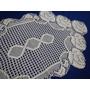 Toalha De Crochê Fino - Centro De Mesa - Rosas (77cm X42cm)