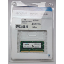 Memoria Certificada Para Mac 4gb Crucial Ddr3-1066 Mhz Apple