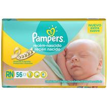 Pañales Pampers Recien Nacido 56 U.