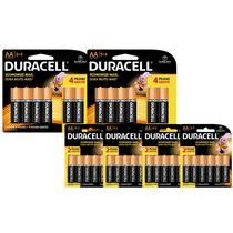 Kit Com 48 Duracell Duralock Pilha Alcalina Aa