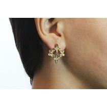 Arete Moda Dorado Mariposa Y Cruces Finos Cristales Ar323