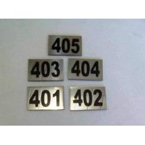 Placa De Identificação De Apartamentos Inox 3,0x2,0,números