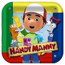 Platos Desechables Grandes Handy Manny / Manny A La Obra