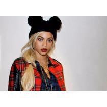 Gorro Beyonce, Dos Pompones, Tejido A Mano