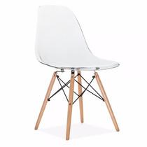 Cadeira Charles Eames Eiffel Em Policarbonato Transparente