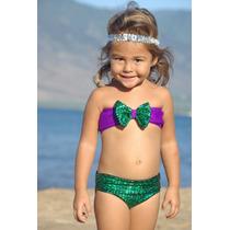 Bikini Traje Baño Ariel Sirenita Little Mermaid Bikinis Niña