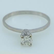 1995 Anel Solitário Com Diamante De 25 Pontos Jk-vs