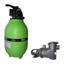 Filtro Piscina Veico V20 E Bomba 1/4cv Motor Weg P/ 21.000l