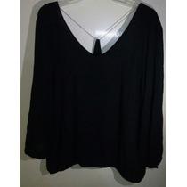 Blusa Dama Negra Talla Xl (extra Grande) 38-40