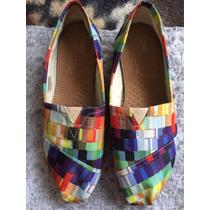Zapatos Toms Originales Mujer Talla 7 1/2