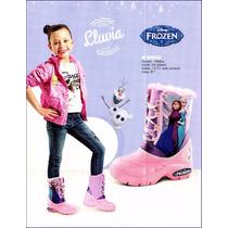 Botas Para Lluvia Frozen Peluche En Su Interior Gagashop! 8