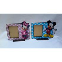 10 Portaretratos Souvenirs Minnie Mickey Bebe Peppa Minions