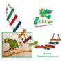 Juguete Perikeichos Escaleras Amazona Para Perico O Loro