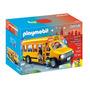Playmobil Onibus Escolar City Life 5680 12 Peças Com Luzes