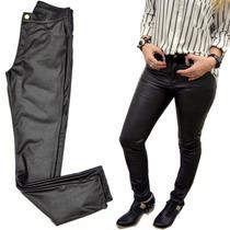 Pantalon Calza De Cuero Elastizado Mujer The Big Shop